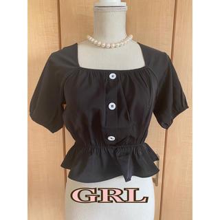 GRL - 新品・タグ付き!GRL黒オフショルダートップス♫フリフリ