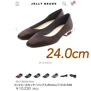 JELLY BEANS - 【新品】ジェリービーンズ コンビヒールカッターパンプス 定価10,230円
