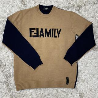 フェンディ(FENDI)のFENDI ロゴニット サイズ48 美品 正規品 セーター フェンディ(ニット/セーター)