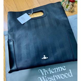 ヴィヴィアンウエストウッド(Vivienne Westwood)の格安★ヴィヴィアンウエストウッド黒レザークラッチバッグ新品★牛革オーブロゴ(クラッチバッグ)
