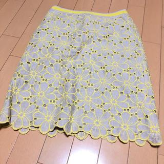 ビームス(BEAMS)のBEAMS 花柄刺繍 スカート(ひざ丈スカート)