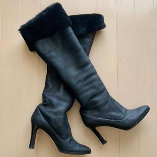 MANOLO BLAHNIK - マノロブラニク ロングブーツ ブラック 36サイズ