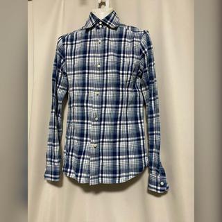 ダブルジェーケー(wjk)のwjk シワ加工 チェックシャツ M 青 水色 ブルー(シャツ)