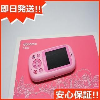 フジツウ(富士通)の新品 F-03J キッズケータイ ピンク (携帯電話本体)