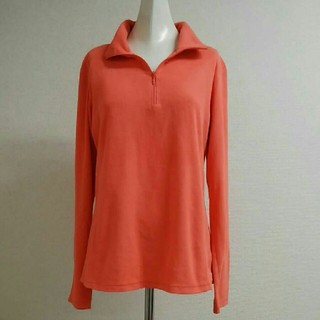 コロンビア(Columbia)のColumbiaコロンビア ハーフジップフリースシャツ オレンジライト M-L(登山用品)