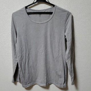 エドウィン(EDWIN)のEDWIN ロンT メンズ Mサイズ グレー(Tシャツ/カットソー(七分/長袖))