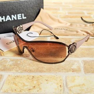 シャネル(CHANEL)の美品 シャネル CHANEL ☆ カメリア サングラス イタリア製 ココマーク(サングラス/メガネ)