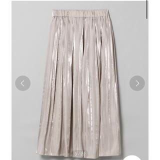 ジーナシス(JEANASIS)のシャイニーケシプリーツロングスカート(ロングスカート)