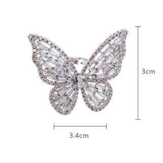 高級感、蝶、開口、指輪、女性(リング(指輪))