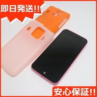 フジツウ(富士通)の美品 F-03F Disney Mobile ピンク 白ロム(スマートフォン本体)