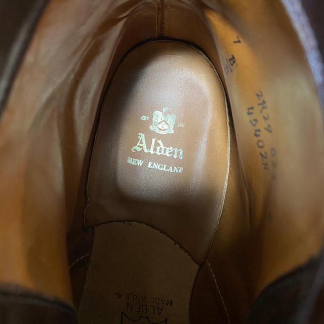 Alden(オールデン)の超希少!Alden タンカーブーツ シガーコードバン オールデン メンズの靴/シューズ(ブーツ)の商品写真