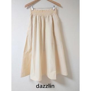 ダズリン(dazzlin)のタグ付き新品! シャーリングギャザーロングスカート 6,490円(ロングスカート)