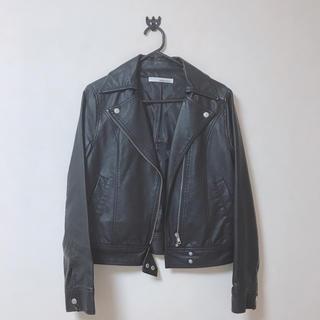ライダースジャケット 黒革