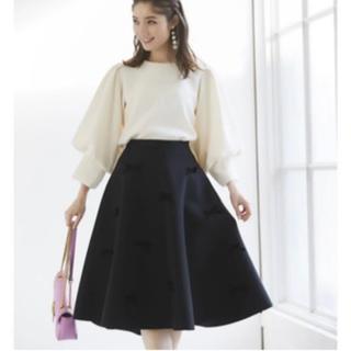 tocco - トッコクローゼット♡ベロアリボン付きボンディングフレアスカート♡ブラックタグ付