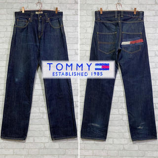 TOMMY - 【 TOMMY 】トミーヒルフィガー ビッグロゴ 濃紺 ジーンズ/M
