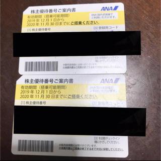 エーエヌエー(ゼンニッポンクウユ)(ANA(全日本空輸))のANA 株主優待券 2枚セット(航空券)