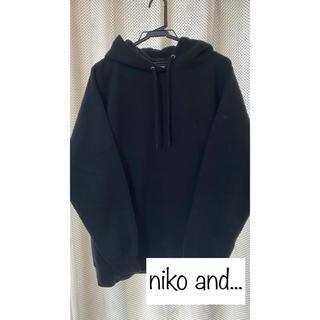 ニコアンド(niko and...)の裏起毛裏毛ワイドパーカー(パーカー)