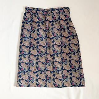 ロキエ(Lochie)のVintage 90s ペイズリー柄スカート(ひざ丈スカート)
