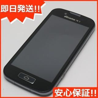フジツウ(富士通)の超美品 F-08E らくらくスマートフォン2 ブラック (スマートフォン本体)