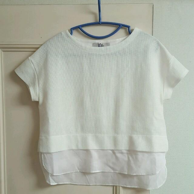 Noble(ノーブル)のショート丈半袖 レディースのトップス(カットソー(半袖/袖なし))の商品写真