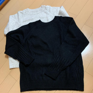 ムジルシリョウヒン(MUJI (無印良品))のムジラボ 前でも後ろでも着れるセーター2着 S〜M(ニット/セーター)