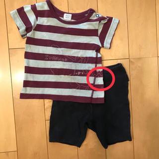 ハッカベビー(hakka baby)のc) 半袖Tシャツ&半ズボンセット(Tシャツ/カットソー)