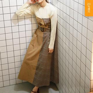 ミスティウーマン(mysty woman)のビスチェ付きブロッキングロングスカート mysty woman(ロングスカート)
