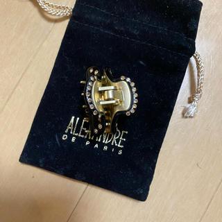 アレクサンドルドゥパリ(Alexandre de Paris)のアレクサンドルドゥパリ定番クリップ12000円黒スワロ(バレッタ/ヘアクリップ)