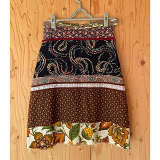 UNITED ARROWS - アメリカ製★異素材パッチワークのスカート アローズ