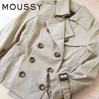 マウジー(moussy)の超美品 サイズ1 マウジー トレンチジャケット ベージュ(トレンチコート)