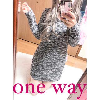 one*way - 2626.one way ツイード ニット ミニワンピース