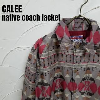 キャリー(CALEE)のCALEE/キャリー 18ss ネイティブ柄 コーチジャケット(ブルゾン)