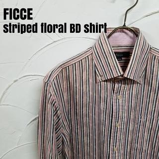フィッチェ(FICCE)のFICCE/フィッチェ 長袖 ストライプ 花柄 BD シャツ(シャツ)