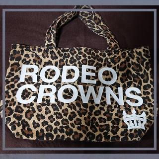 ロデオクラウンズワイドボウル(RODEO CROWNS WIDE BOWL)のロデオクラウンミニトート(ヒョウ柄)(トートバッグ)