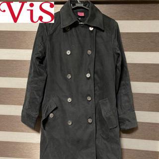 ヴィス(ViS)のVis トレンチコート Mサイズ ブラック(トレンチコート)