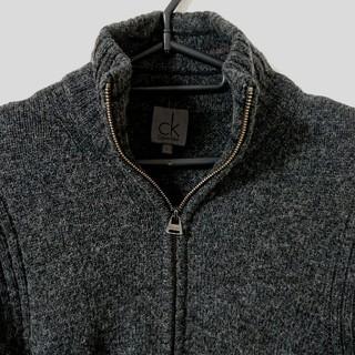 カルバンクライン(Calvin Klein)のCalvin Klein ジップアップニット(ニット/セーター)