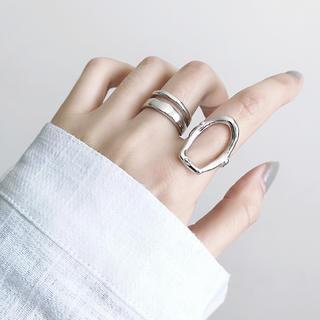 シルバー リング 銀 指輪 フリーサイズ ペア セット シルバー925(リング(指輪))