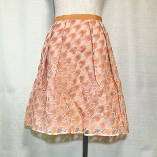 アナイ(ANAYI)の美品 ANAYI グログランテープフレアスカート(ひざ丈スカート)