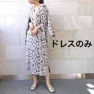 ジェラートピケ(gelato pique)の新品未使用 ジェラートピケ レオパードジャガードドレス(ルームウェア)