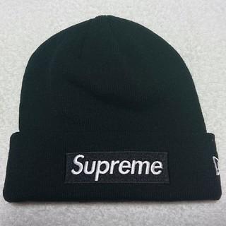 シュプリーム(Supreme)の【新品】supreme ボックスロゴ ニット帽 ブラック ビーニー cap(ニット帽/ビーニー)