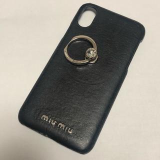 ミュウミュウ(miumiu)のmiumiu iPhoneケース iPhoneX(iPhoneケース)