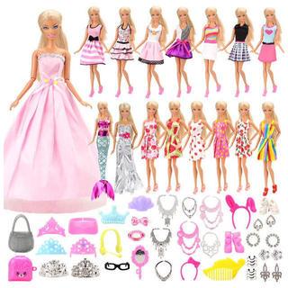 バービー(Barbie)のバービー 洋服セット 15点アクセサリーセット40個(その他)