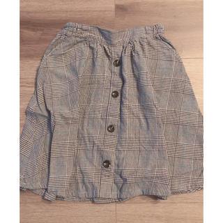サンカンシオン(3can4on)のサイズ110 チェックスカート(スカート)