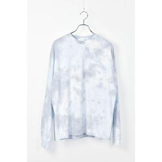 タイダイ染めヘビーウェイト長袖ポケットTシャツ 古着 ブルーグレー(Tシャツ/カットソー(七分/長袖))