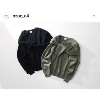 オゾック(OZOC)のOzoc c4 コラボニット ドッキングニット カーキ セアル(ニット/セーター)