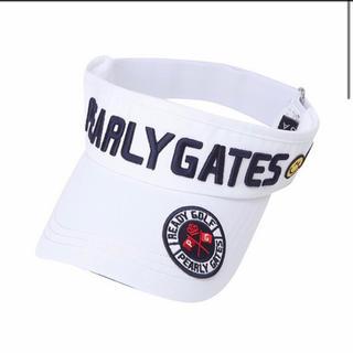 パーリーゲイツ(PEARLY GATES)のパーリーゲイツ 帽子 男女兼用 新品 ホワイト 白 ゴルフ 早い者勝ち(キャップ)