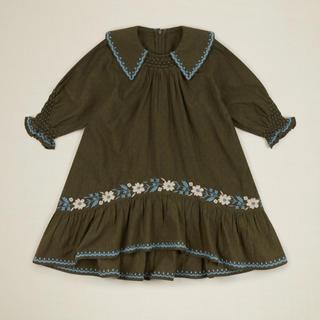 Caramel baby&child  - 2020aw apolina kids BETTINA DRESS OLIVE