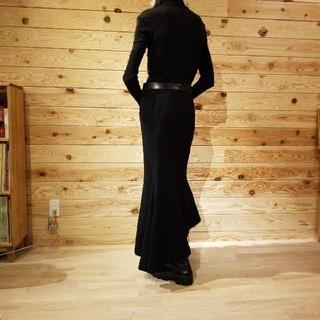 ヨウジヤマモト(Yohji Yamamoto)の柩様ご専用 yohjiyamamoto マーメイドロングスカート メリノウール(ロングスカート)