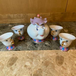 Disney - ディズニー ポット婦人 チップ ティーセット