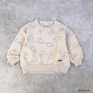プティマイン(petit main)のミッフィー総柄トレーナー(Tシャツ)